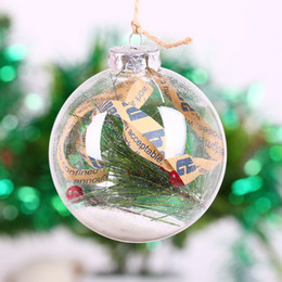 Clear Balls Australia - Wholesale Christmas Ball Ornament Clear Glass Bauble Xmas Decoration Pendant Wedding DIY party Event Memory ball (Only Glass)
