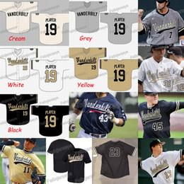 Custom Vanderbilt Commodores Camisola De Beisebol Da Faculdade NCAA Custom Costurado Baseball Jersey S para 3XL Rápido Frete Grátis