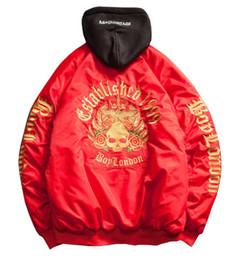 $enCountryForm.capitalKeyWord Australia - yizlo ma1 bomber jacket Golden skull Embroidery mens flight jackets Harajuku hip hop jaqueta masculina coat