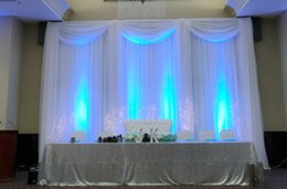 Fabric Decorations Backdrop Australia - Luxury 10X10ft Wedding Backdrop And Silk Fabric Curtain Drape For Wedding Party Banquet Decoration Free Shipping