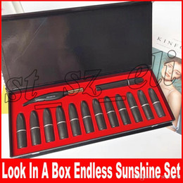 Matte eyeliner pens online shopping - Makeup Set Look in a Box Endless Sunshine Feather Eyeliner Pen Mascara Matte Lipstick in Make up Cosmetic Set