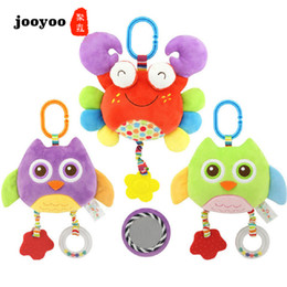 Birth Rings Australia - Kid Gift Birth Mobile Musical Rattle Baby Childhood Ring Animal Early Teether Education Color Toy jooyoo