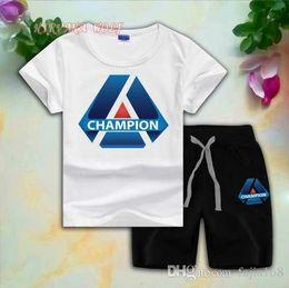 $enCountryForm.capitalKeyWord Australia - CHMP Children Sets 1-8T Kids T-shirt And Short Pants 2Pcs sets Baby Boys Girls 95% Cotton Diamond Design Printing Style Summer Sets