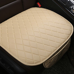 Cushioned Chairs Australia - Universal Leather Car Seat Cover Cushion Front Rear Backseat Seat Cover Auto Chair Seat Protector Mat Pad Interior Accessories