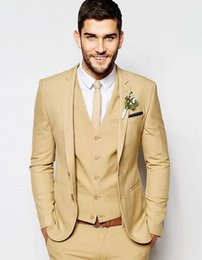 veste camel homme achat en gros de-news_sitemap_homeMariage Super Skinny Fit homme de chameau marié smoking costume fait sur mesure smokings groomsman costume dîner costume veste pantalon gilet cravate CY016