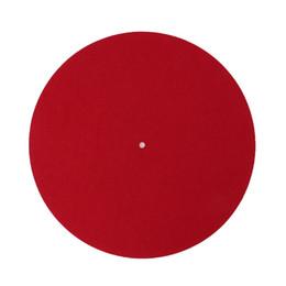 Turntable Player Australia - Turntable Mat Slipmat Audiophile 3mm Felt Platter Vinyl Record Players Anti-Vibration Durable Anti-Static