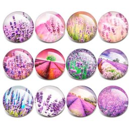 $enCountryForm.capitalKeyWord NZ - Wholesale Purple Lavender Jewelry Snaps Buttons Interchangeable jewelry DIY 18mm Glass Snap buttons for Snap Bracelet Bangle