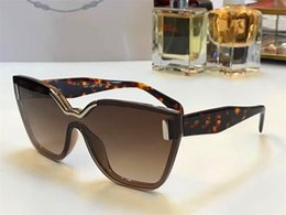 latest top design 2019 - The latest fashion ladies sunglasses geometric cutting frameless frame Connect the lens design style top quality 16T UV