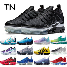Wholesale sports active for sale - Group buy 2020 New TN running shoes obsidian photo blue triple black white active fuchsia be true bumblebee sports trainers mens sneakers trainers