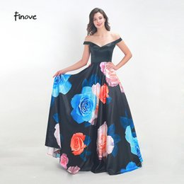 ffb41d1d31f4 Simply Dresses UK - Finove Prom Dress Long 2019 In Women's Dresses Simply  Floral Pattern Satin