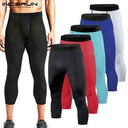 $enCountryForm.capitalKeyWord NZ - INCERUN Fashion Mens Skinny Sweatpants Slim Fit Trousers Tight Bodybuilding Leggings Base Layer Pants Gyms 3 4 Trousers Joggers