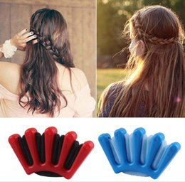 $enCountryForm.capitalKeyWord Australia - 200pcs Charming French Style DIY Sponge Hair Braider Plait Hair Twist Braiding Styling Tools For Women Girl