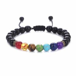$enCountryForm.capitalKeyWord Australia - Free DHL Black Lava Healing Balance Bracelet Hot Sale Reiki Prayer Natural Stone Beads Adjustable Rope Yoga Strand Aroma Bracelets
