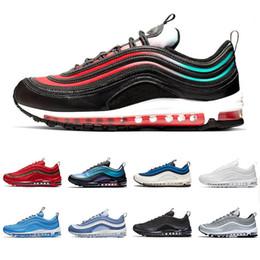 5358796016 nike air max airmax 97 zapatillas para correr para hombre Zapatillas All  Over Print Azul marino Royal Orange negro blanco diseñador de zapatillas  deportivas