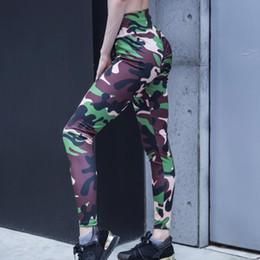 Camouflage Workout Leggings Australia - High Waist Slimming Leggings Streetwear Plus Size Camouflage Print Sports Pants Women Stretch Fitness Workout Legging Jeggings