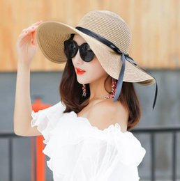 9bc41b45 2019 new hot sale comfortable straw hat female summer small fresh sunshade  sunscreen folding beach sun hat