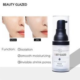 moisturizing liquid foundation Canada - Beauty Glazed Face Pre-Makeup Lotions Long Lasting Moisturizing Foundation Liquid Oil Control Face Primer 15ML