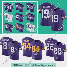 84 Randy Moss 19 Adam Thielen Minnesota Jersey Viking 14 Stefon Diggs 8  Kirk Cousins 22 Harrison Smith 99 Hunter 33 Cook Jerseys 3e707c5bb