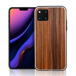 Discount iphone solid wood case - Applicable to apple iPhone11 solid wood shell 11 PRO 11 PRO MAX fully covered anti-fall protective cover wood grain bamb