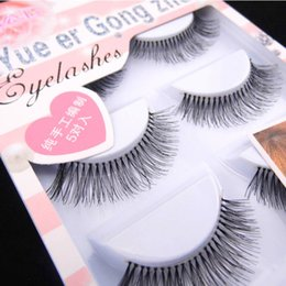natural eyelashes for sale UK - HW-07 False eyelashes Natural Long Eye Extentions Makeup for Eyes 5 Pairs New Styles Hot Sale