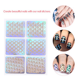 Wholesale 3D Nail Art Sticker Stamping Plates Template Shinning Hollow French Stickers Manicure Stencil Tips Polish Decals for Christmas set