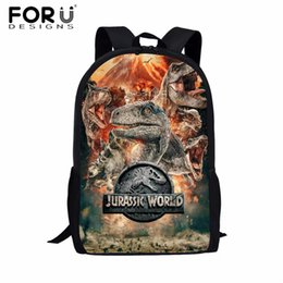 $enCountryForm.capitalKeyWord Australia - FORUDESIGNS Jurassic World Kids School Bags for Boys T-rex Dinosaur Backpack Primary Children Book Bags Kids Gift Bag Mochilas