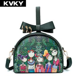 $enCountryForm.capitalKeyWord NZ - Steven Luxury Design Women Handbags Fashion Shell Small Ladies Messenger Bag Cartoon Printing Pu Leather Female Shoulder Bag