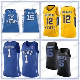 5369a291e72 NCAA Duke Blue Devils College 1 Zion Williamson Irving Jersey 12 Ja Morant  5 RJ Barrett 2 Reddish 4 Redick 32 Christian Laettner