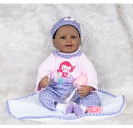 $enCountryForm.capitalKeyWord Australia - 22inches Silicone Lifelike Reborn Baby Doll Realistic Newborn Babies with Clothing Kids Playmate Best Birthday Xmas Gift