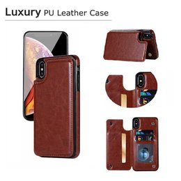 Wholesale For iPhone Xs Max Xr S10 Plus Wallet Case Luxury PU Leather Cell Phone Back Case Cover with Credit Card New