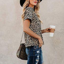 $enCountryForm.capitalKeyWord Australia - 2019 New Women T-shirts Leopard Print Crew Neck Fashion Tops Tee Summer Female T shirt Short Sleeve T shirt For Women Clothing