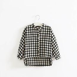 Girl Plaid Shirts Australia - 2019 Spring Autumn Girls Shirts plaid Long Sleeve Kids T Shirt Girl Tops Blouses long shirts Cotton Shirts kids clothes kids clothing A3486