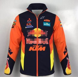 KhaKi motorcycle jacKet online shopping - 2019 new MotoGP KTM driver version sweater off road motorcycle riding suit windproof jacket Dakar racing plus cotton locomotive suit