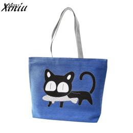 Cat bag wholesale online shopping - Fashion Cute Cartoon Cat Bag Canvas Bags For Women Shoulder Bag Casual Women s Handbags Messenger Bags Bolsas Feminina Hot Sale