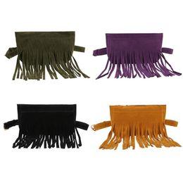 $enCountryForm.capitalKeyWord UK - Vintage Women Scrub Leather Waist Packs Chest Bags Teen Girls Tassel Fanny Packs Shoulder Handbags Lady Solid Travel Pouch Totes