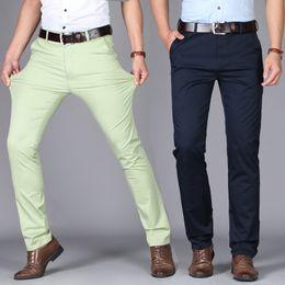 $enCountryForm.capitalKeyWord Australia - 2019 New Summer Men's Leisure Pants Korean Fashion Elastic Cotton Slim Straight Cylinder Men's Thin Pants Ironing-free