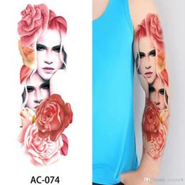 $enCountryForm.capitalKeyWord Australia - New Fashion Sexy Waterproof Temporary Tattoo Men Women Fake Body ART 48*17CM Tattoo Sticker Knight Tatoos