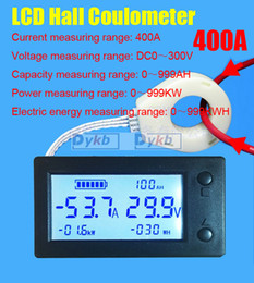 dc electronics Canada - onsumer Electronics DC 50 100 200A 400A LCD Hall Coulomb meter Battery Monitor Digital VOLT AMP Voltage Current Power Capacity KWH STN Di...