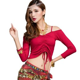 600b5a611138 5 Colors Belly Dance Top For Women Long Sleeve Bollywood Training Clothes  Slim Bellydance Tops Oriental Dancing Outfits DC1784