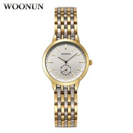womens watches bracelets Canada - 2020 Casual Womens Quartz Watches Fashion Women Watches Gold Watch Women Stainless Steel Bracelet Watch