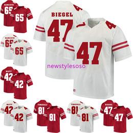 Wisconsin badgers jerseys online shopping - 2019 NCAA Football Wisconsin Badgers T J Watt Troy Fumagalli Vince Biegel Jerseys