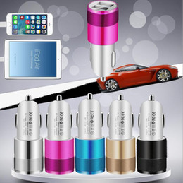 $enCountryForm.capitalKeyWord NZ - Portable Dual USB Car Charger Colorful Smart Mini Car Chargers Mobile Phone Charger Car Power adapter Plug For Huawei P20 Samsung S9 Iphone