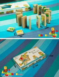 Domino Blocks Australia - uilding Construction Toys Blocks Free shipping wooden animal puzzles domino toy, 15PCS cartoon animals matching domino, KIDS Learning and...