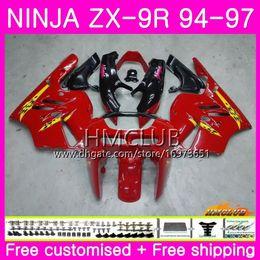$enCountryForm.capitalKeyWord Australia - Bodys For KAWASAKI NINJA ZX 9R ZX900 ZX-9R 94 95 96 97 Kit 69HM.14 ZX 9 R 94 97 900CC ZX9R 1994 1995 1996 1997 Full Sale Glossy red Fairing