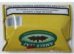 Ingrosso Top Sigarette BOX Fumatori Tabacco a mano con pacchetto di foglie color ambra Tabacchi per sigarette tabacco 500g = 10 pack / sacco collezione boxer in plastica Tamburo tabacco