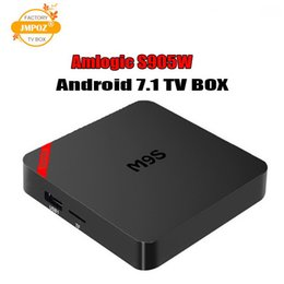 Best Media Player Android Australia - Best selling products M9S Mini 1GB 8GB 2GB 16GB Android 7.1 TV BOX Amlogic S905W Quad Core 2.4GHz WiFi 3D 4K Android IPTV Media Player