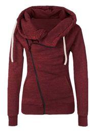 $enCountryForm.capitalKeyWord UK - fashion autumn and winter sweater New female zipper colorblock sweater Autumn Fashion Long Sleeve Lapel Pocket Diagonal Zip Sweatshirt