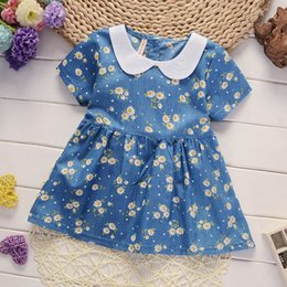 Infant Girls Tracksuits Australia - good quality newborn baby cotton dress summer infant girls daisy dress flower clothes kids tracksuit child outfit baby girl clothes