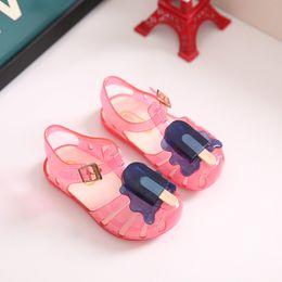 $enCountryForm.capitalKeyWord NZ - New Kids Mini Melissa Jelly Sandals For Baby Girls ice cream Children Summer Cute Cartoon Beach Shoes Infantil Sandalia