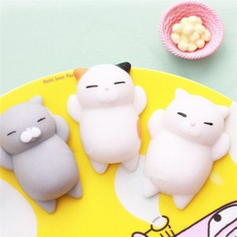 retail wholesales toys Australia - 1pc MOQ Soft Cartoon Cat Fidget PVC Animal extrusion vent toys Squishy rebound squishy Funny Gadget Vent Decompression toy Mobile Pendant